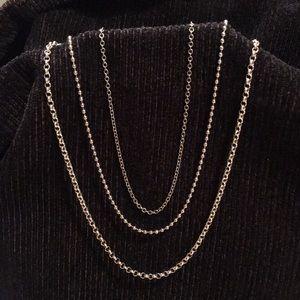 """3 Necklaces 15"""", 16"""", 17"""""""